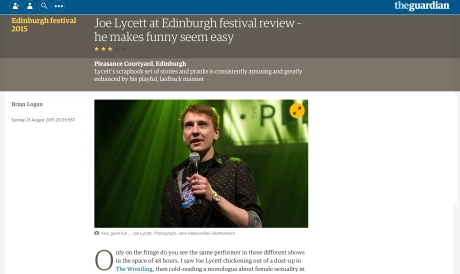Joe Lycett, Pleasance, 27.08.15